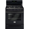Frigidaire Gallery 5-Burner Freestanding 5-cu Self-Cleaning Gas Range (Black) (Common: 30-in; Actual: 29.87-in)