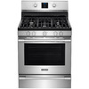 Frigidaire Professional 5-Burner Freestanding 5.6-cu ft Convection Gas Range (Smudge-Proof Stainless Steel) (Common: 30-in; Actual: 29.875-in)