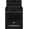 Frigidaire 5-Burner Freestanding 5-cu ft Convection Gas Range (Black) (Common: 30-in; Actual: 29.875-in)