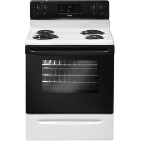 Tappan Freestanding 5.3-cu ft Self-Cleaning Electric Range (White) (Common: 30-in; Actual: 29.88-in)