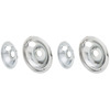 Smart Choice 6-in and 8-in Chrome Drip Bowl Set, Fits Specific
