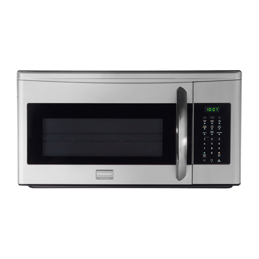 Shop frigidaire gallery 1 7 cu ft over the range microwave with sensor