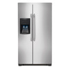 Frigidaire 22.1-cu ft Side-by-Side Refrigerator Single Ice Maker (Stainless Steel)