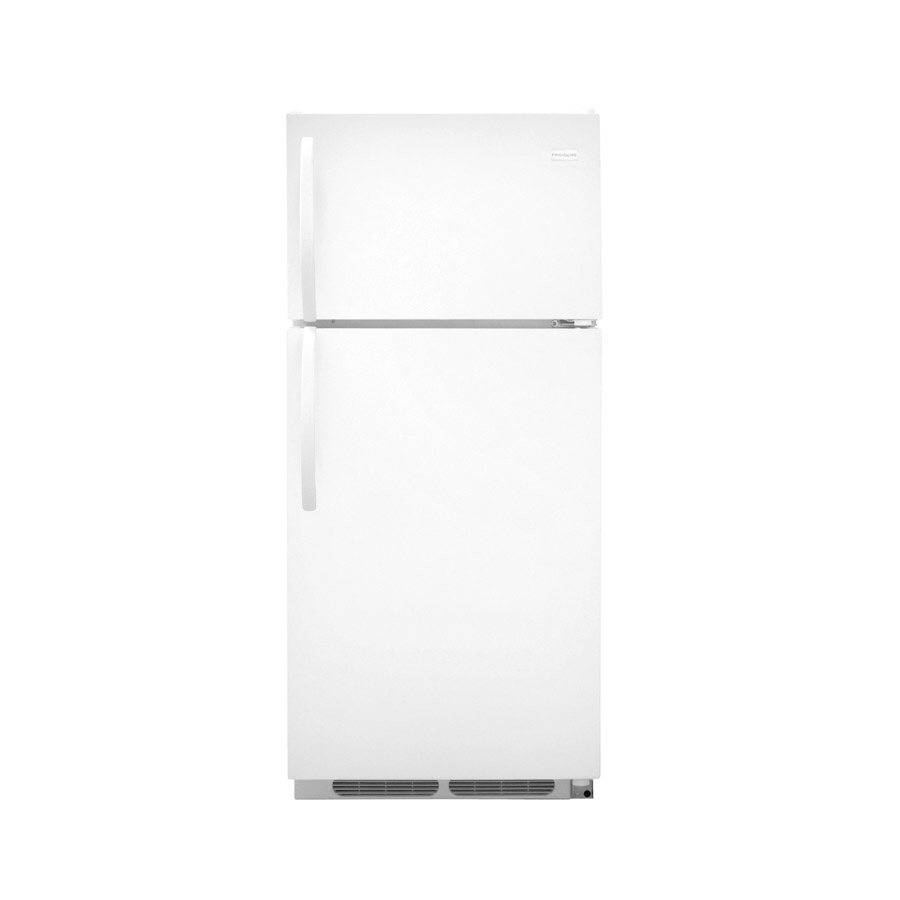 Shop Frigidaire 16 5 Cu Ft Top Freezer Refrigerator White