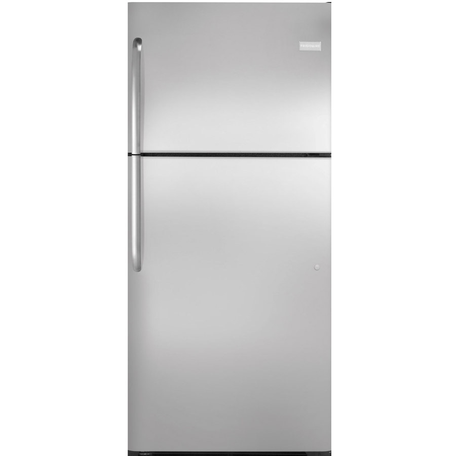 shop frigidaire 20 6 cu ft top freezer refrigerator stainless steel energy star at. Black Bedroom Furniture Sets. Home Design Ideas