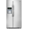 Frigidaire Gallery 22.6-cu ft Counter-Depth Side-By-Side Refrigerator with Single Ice Maker (Stainless Steel) ENERGY STAR