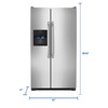 Frigidaire 22.07-cu ft Side-by-Side Refrigerator Single Ice Maker (Easycare)