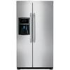 Frigidaire 22.6-cu ft Counter-Depth Side-by-Side Refrigerator Single Ice Maker (Stainless Steel)