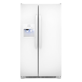 Frigidaire 26-cu ft Side-by-Side Refrigerator Single Ice Maker (White)