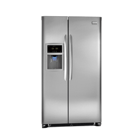 Frigidaire Gallery 22.6-cu ft Side-By-Side Counter-Depth Refrigerator with Single Ice Maker (Stainless Steel) ENERGY STAR