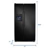 Frigidaire 22.07-cu ft Side-by-Side Refrigerator Single Ice Maker (Black)