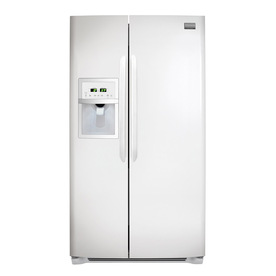 Frigidaire Gallery 22.6 cu ft Side-by-Side Counter-Depth Refrigerator (Smooth White) ENERGY STAR