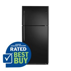 Frigidaire 20.6-cu ft Top-Freezer Refrigerator (Black)