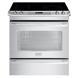 Frigidaire Professional Smooth Surface 5-Element Slide-In Convection Electric Range (Stainless Steel) (Common: 30-in; Actual 30-in)