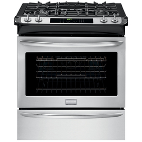 Frigidaire Gallery 4.5-cu ft Slide-In Convection Gas Range (Stainless Steel) (Common: 30-in; Actual 30-in)