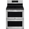 Frigidaire 30-in Smooth Surface 5-Element 3.6-cu ft / 3.6-cu ft Double Oven None Electric Range (Smudge-Proof Stainless Steel)