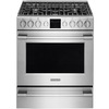 Frigidaire Professional 5-Burner Freestanding 5.1-cu ft Self-Cleaning Convection Gas Range (Smudge-Proof Stainless Steel) (Common: 30-in; Actual: 30-in)