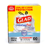Glad 100-Count 13-Gallon Plastic Indoor Trash Bags