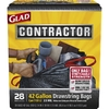 Glad Contractor 28-Count 42-Gallon Black Construction Trash Bags