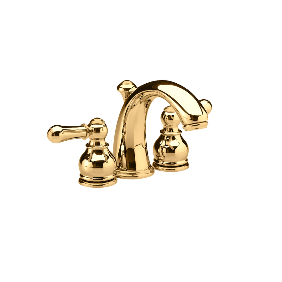 Shop American Standard Hampton Polished Brass 2 Handle 4 In Mini Widespread Watersense Labeled