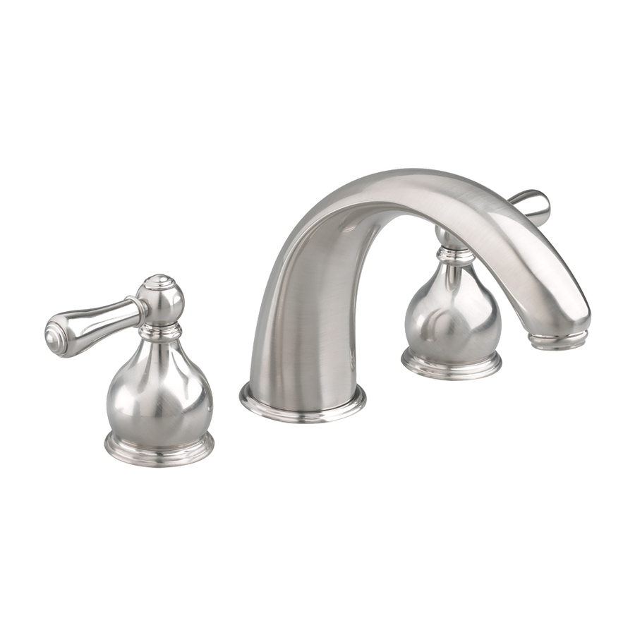 Shop American Standard Hampton Satin Nickel 2 Handle Widespread Watersense Labeled Bathroom Sink