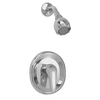 American Standard Seva Satin Nickel 1-Handle Shower Faucet Trim Kit with Single-Function Showerhead