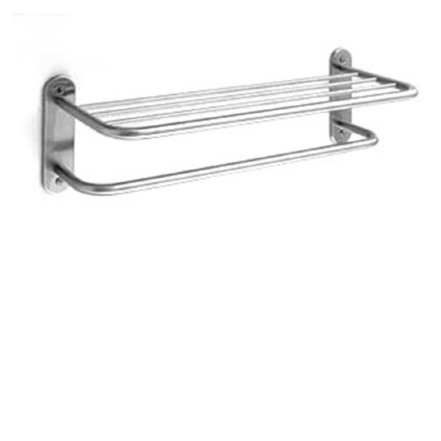 Towel Rack Shelf Lowes   Standard Prairie Field Polished Chrome Metal Towel  Rack at Lowes com. 012611320316 jpg