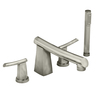 American Standard Green Tea Stainless Steel 2-Handle Fixed Deck Mount Tub Faucet