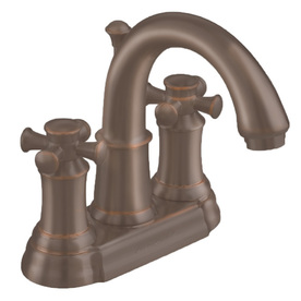American Standard Portsmouth Oil-Rubbed Bronze 2-Handle 4-in Centerset WaterSense Bathroom Sink Faucet (Drain Included)