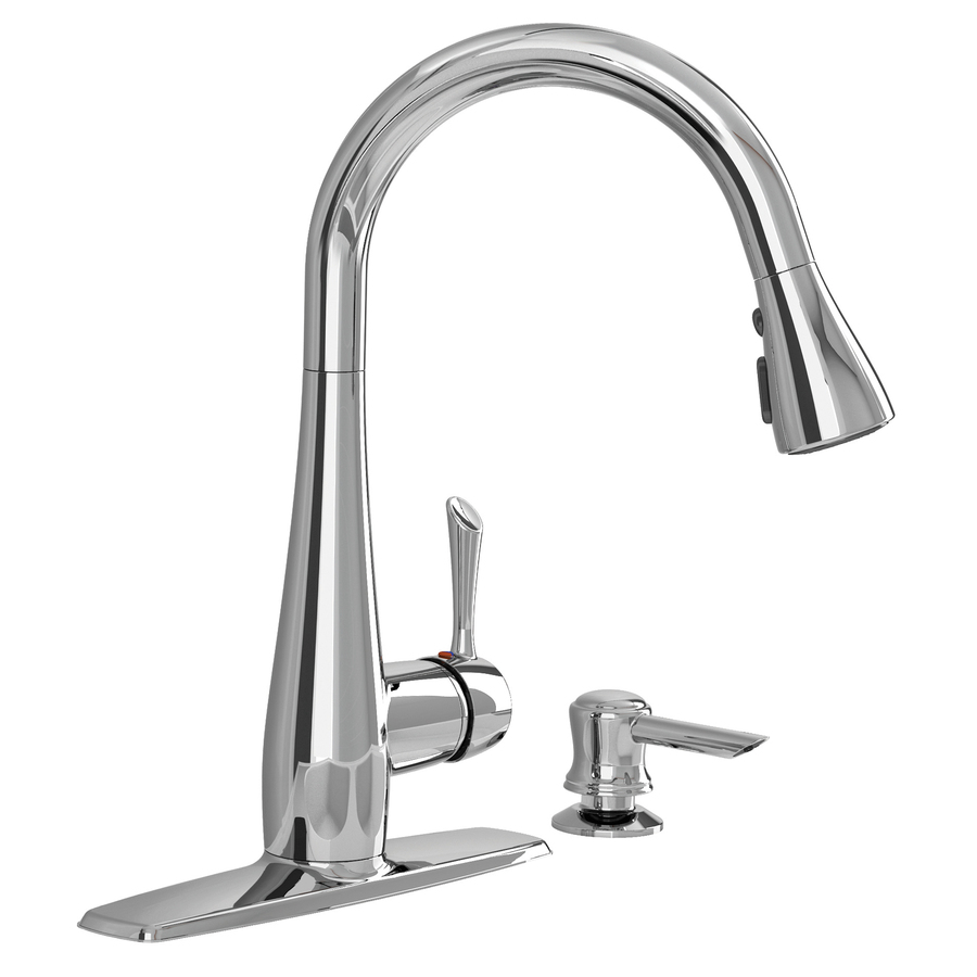 Shop american standard olvera chrome 1 handle pull down - Lowes kitchen sink faucet ...