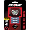 Rayovac 180 Lumens Led Headlamp Battery Flashlight