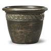 19.57-in x 14.76-in Light Bronze Resin Round Planter