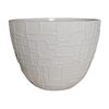 allen + roth 11-7/8-in H x 15-in W x 15-in D White Resin Planter