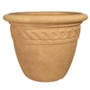 Grosfillex 19.57-in x 14.76-in Pietra Resin Round Planter