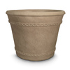 Grosfillex 15.38-in x 12.38-in Pietra Resin Round Planter