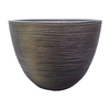 allen + roth 11.89-in x 8.98-in Rust Resin Shell Planter