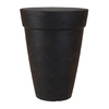 Grosfillex 15.98-in x 20.98-in Rust Resin Shell Planter