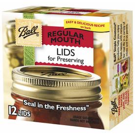 Ball 12-Pack Metal Regular Mouth Canning Jar Lids