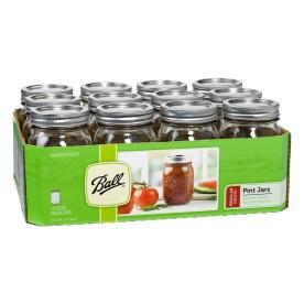 Ball 12-Pack 16-oz Glass Canning Jars with Lids