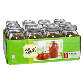 12-Pack 32-oz Glass Canning Jars with Lids