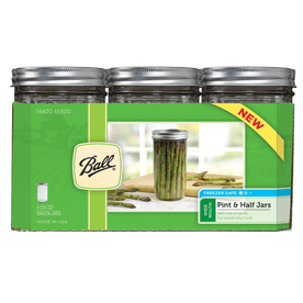 Ball 9-Pack 24 oz Glass Wide Mouth Jars with Lids
