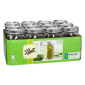  12-Pack 32 oz Glass Wide Mouth Jars with Lids