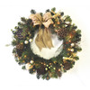 allen + roth 30-in Pre-Lit Scotch Pine Indoor/Outdoor Artificial Christmas Wreath with White Lights