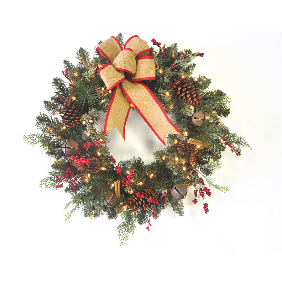 Outdoor lighted wreaths 48 quot lighted wreath sculpture for Led wreath outdoor