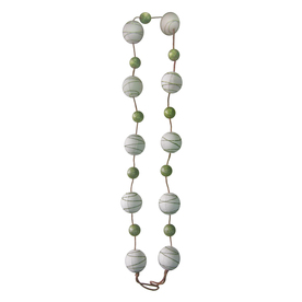 allen + roth 6-ft Beaded Artificial Christmas Garland