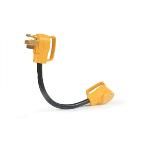 Camco Manufacturing Single-to-Single Yellow 3-Wire Grounding Adapter