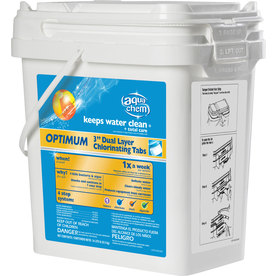 "Aqua Chem 14.375-lbs. Optimum 3"" Dual Layer Pool Chlorinating Tabs"