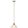 Royce Lighting 10-in W Brushed Steel Mini Pendant Light with Frosted Shade