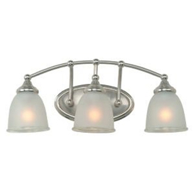 Bathroom Vanity Lights on Lighting 3 Light Brushed Nickel Contemporary Bathroom Vanity Light