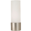 Portfolio 12-in Brushed Steel Torchiere Accent Lamp with White Shade